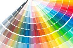 Kolor paleta, koloru przewdonik, farb próbki, koloru katalog Zdjęcia Stock