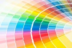 Kolor paleta, koloru przewdonik, farb próbki, koloru katalog Zdjęcie Stock