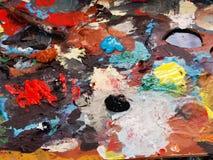 Kolor paleta malarz zdjęcie stock