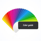 Kolor palety przewdonik, fan, katalog royalty ilustracja
