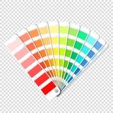 Kolor palety przewdonik na przejrzystym tle ilustracja wektor