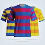 Kolor piłki nożnej koszulek szablon Obraz Royalty Free