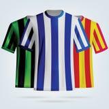 Kolor piłki nożnej koszulek szablon Zdjęcie Royalty Free