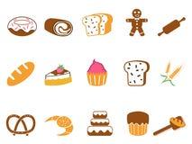 Kolor piekarni ikony ustawiać Obrazy Stock