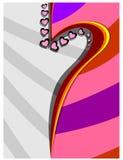 Kolor połówka serce Obrazy Stock