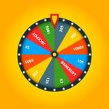 Kolor pomyślności koło Szczęsliwa ruleta royalty ilustracja