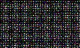 Kolor PROWADZIŁ wideo ściany ekran, RGB koloru światła diody kropki siatki tekstura Wektorowy cyfrowy DOWODZONY wideo panelu wzor royalty ilustracja