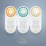 Kolor Przygotowywa Infographics opcj sztandar. royalty ilustracja