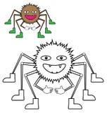 Kolor przykładu pająkiem fotografia stock