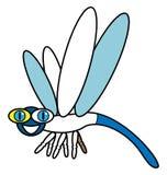 Kolor przykładu dragonfly fotografia stock