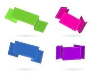 kolor przylepiać etykietkę origami set Zdjęcia Stock