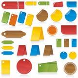 kolor przylepiać etykietkę set Obrazy Stock