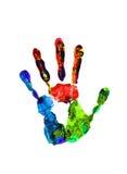 Kolor ręki druki odizolowywający na bielu Zdjęcia Royalty Free