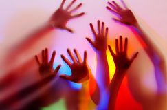 kolor ręce Obraz Stock