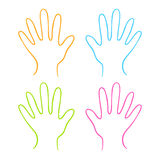 Kolor ręki Obrazy Stock