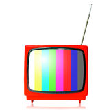 kolor ramowy retro tv Obrazy Royalty Free
