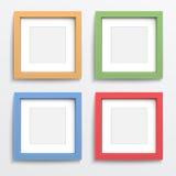 Kolor ramy set na szarości ścianie. Obraz Stock