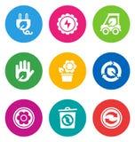 Kolor środowiskowe ikony Obrazy Royalty Free