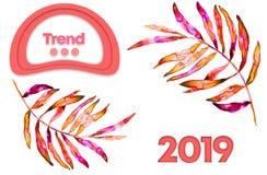 Kolor rok 2019 Tekstura barwiona porowata guma Modny kolor lata 2019 sezon Nowożytna tło dżungla ilustracji