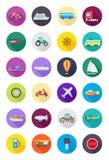 Kolor round przewiezione ikony ustawiać ilustracji