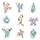Kolor sprawności fizycznej ikony Zdjęcia Royalty Free