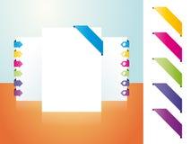 Kolor strona bookmarked Zdjęcia Stock