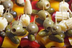 kolor strony jedzenia przekąsek Zdjęcie Royalty Free