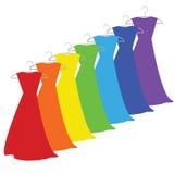Kolor suknie Fotografia Royalty Free