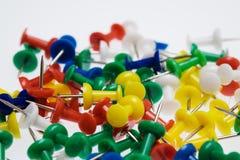 Kolor szpilki na bielu zdjęcie royalty free
