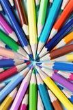 kolor tła ołówki białe Obraz Stock