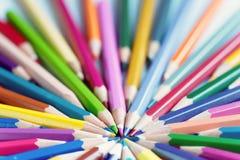 kolor tła ołówki białe Obrazy Stock