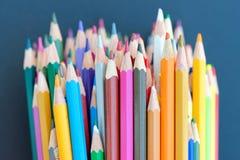 kolor tła ołówki białe Obraz Royalty Free