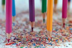 kolor tła ołówki białe Fotografia Royalty Free