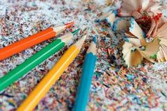 kolor tła ołówki białe Zdjęcie Stock