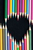 kolor tła ołówki białe Obrazy Royalty Free
