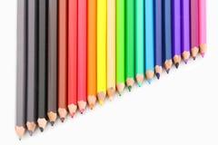 kolor tła ołówki białe Zdjęcia Stock