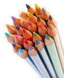 kolor tła ołówki białe Zdjęcia Royalty Free