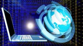 kolor tła pojęcia, niebieski internetu Obrazy Stock