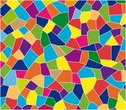 Kolor tafluje mozaikę ilustracji