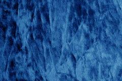 Kolor tekstylna tekstura w marynarki wojennej błękita kolorze Fotografia Stock