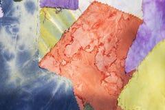 Kolor tkaniny kołderki wzoru tło Zdjęcie Stock