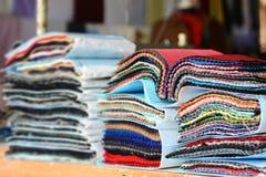 Kolor tkaniny próbki Zdjęcia Royalty Free
