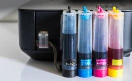 kolor tubka drukarka Obrazy Royalty Free