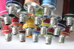 kolor tworzy farb probówki Fotografia Stock