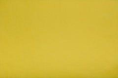 Kolor żółty czuł tkankowego płótno, zbliżenie tekstury tło Zdjęcia Stock