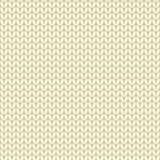 Kolor żółty dziający bezszwowy wzór, dzianiny stockinette ścieg Zdjęcia Stock