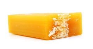 Kolor żółty mydło Fotografia Stock