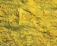 Kolor żółty rockowa tekstura Zdjęcie Royalty Free