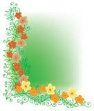 kolor winieta kwiecista dystyngowana Obraz Stock