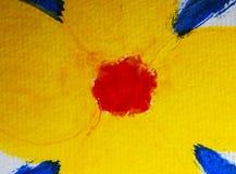Kolor wodnych sztuk obrazu tła akrylowy abstrakt zdjęcie stock